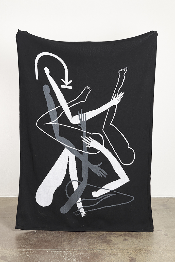 Nolan Oswald Dennis – radical (empathy), 2019. 180 (h)  x 130 (w) cm. 100% cotton blanket, made in South Africa. Edition of 50. Producer: Something Good Studio.