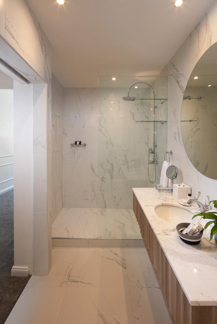 The Marly's glamorous high-gloss bathrooms.