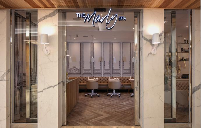 The glamorous Marly Spa offers international face and body brands and exclusive customised treatments.