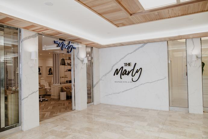 The Marly Boutique and Spa entrance.