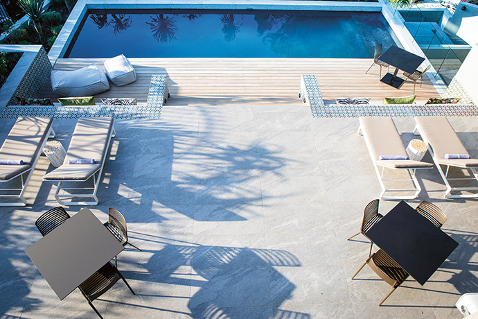 Guests have access to a variety of private and public spaces, whether it be a balcony off their suite, the rooftop sundowner bar or poolside lounging. Beside the pool, there's also a more secluded lowered timber deck under the tree canopies.