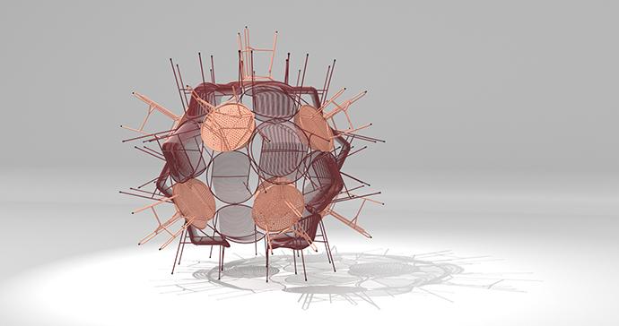 Virus Sculpture by Haldane Martin.