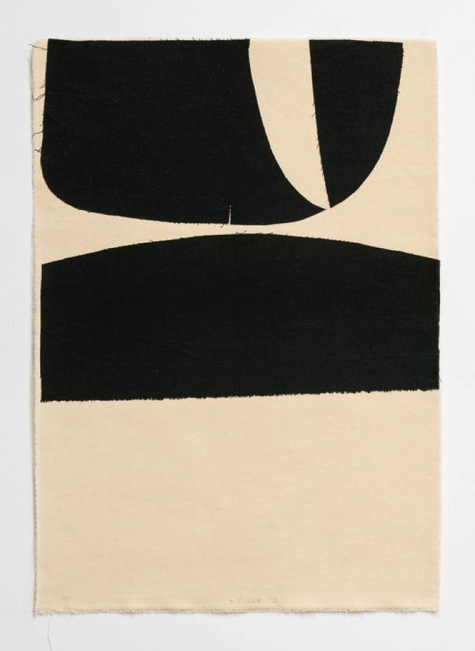 Gerda Scheepers– Untitled IV, 2019. Textile Collage. Presented byArt Gazette.