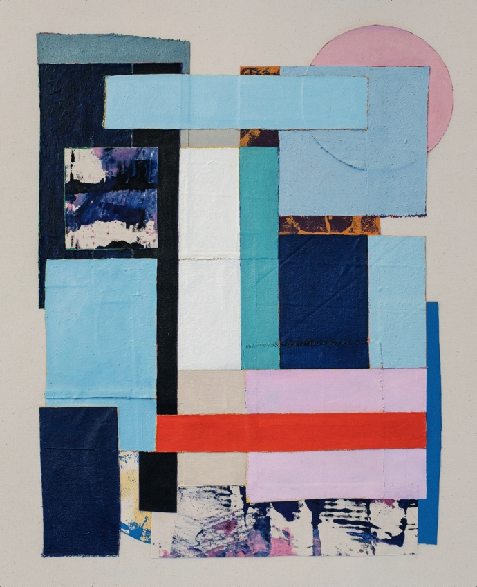 Hugh Byrne – Within Reach 12, 2020. Oil and acrylic paint on canvas. Presented byEBONY/CURATED.