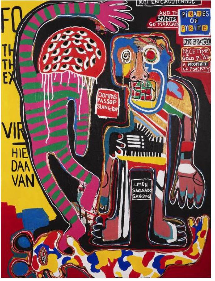 Juan Stockenstroom – DANCE OF THE SUGAR RUM FAIRY, 2020. Acrylic. Presented byBerman Contemporary.