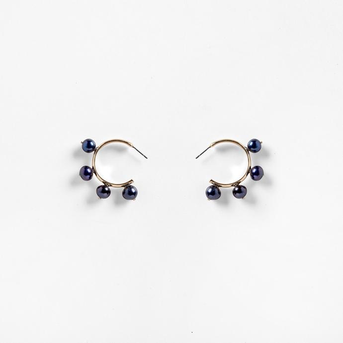 Garland hoop earrings