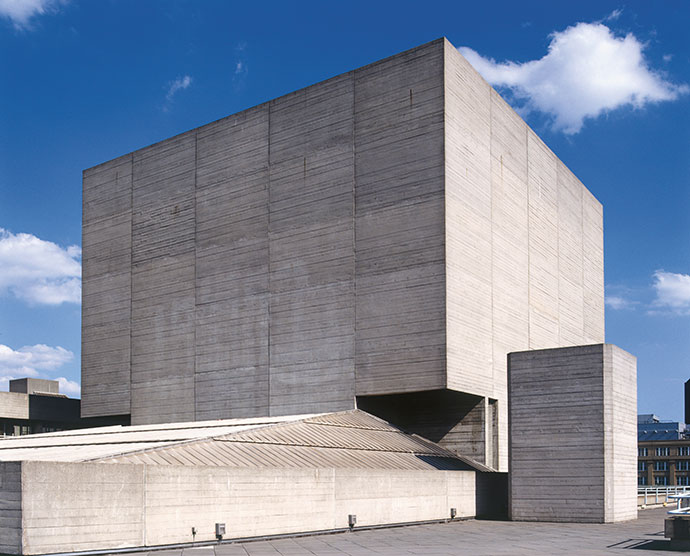 The National Theatre in London, designed by Sir Denys Lasdun.