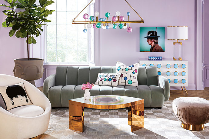 US designer Jonathan Adler (jonathanadler.com) is known for his playful, colourful and glamorous approach to design.