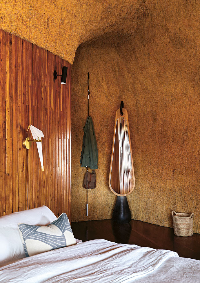 A Fantasia mirror by Dokter and Misses adorns the main bedroom upstairs.