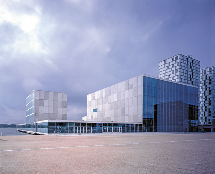 Sejima's De Kunstlinie Theatre and Arts Centre in Almere, Netherlands.