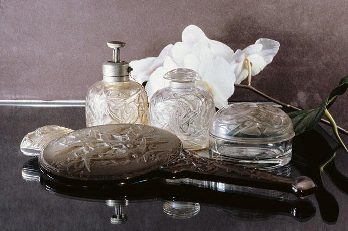 Lalique crystal.
