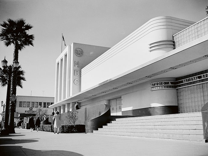 The NBC HQ in Hollywood, 1940.