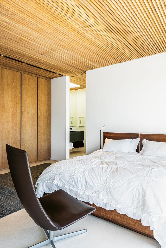 Bathed in light, owner Karin de Klerk's no-frills master suite is a sanctuary.