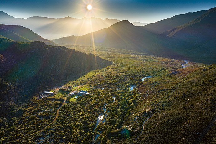 The property forms part of the Boland Mountain Complex in the Cape Floral Region, one of nine areas in South Africa designated by UNESCO as World Heritage Sites.