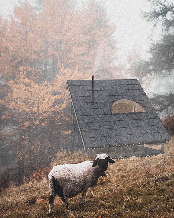 Crouching Sheep Hidden Cabin