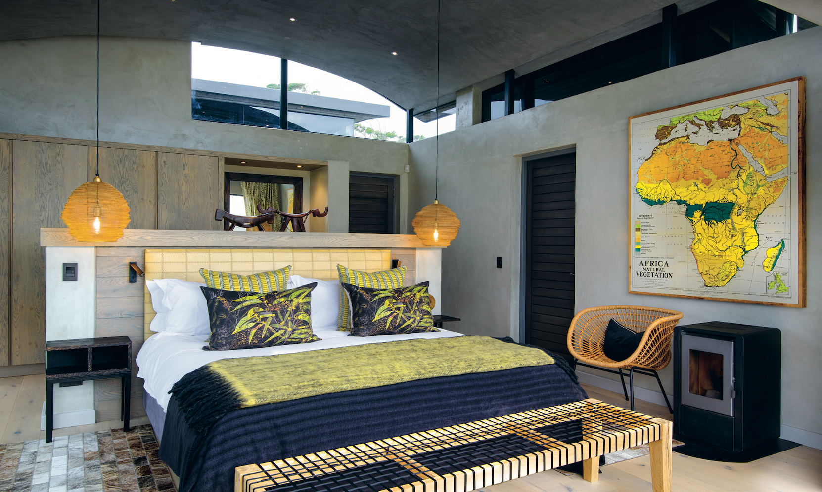 Each of the four bedrooms has its own colour palette, complemented by carefully selected art.