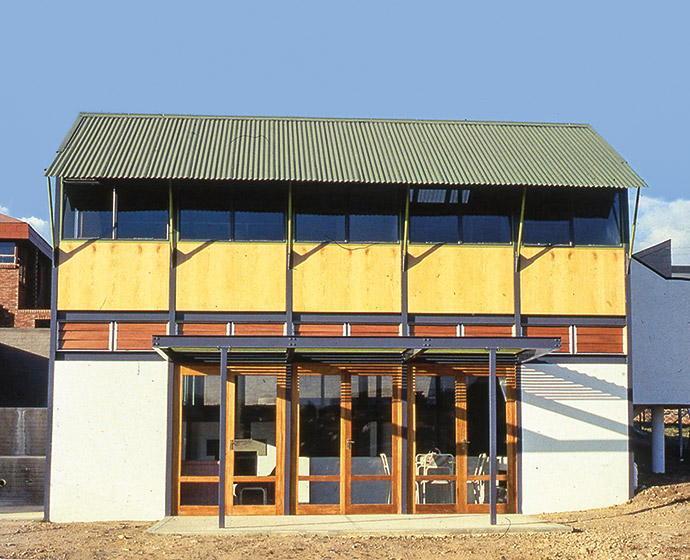 Jo's House Nxumalo in Alexandra, situated on a 90m2 plot and completed in 1988. It adopts the idea of literal transparency – which involves being able to understand a house's spatial strategy by the treatment of the external façades.