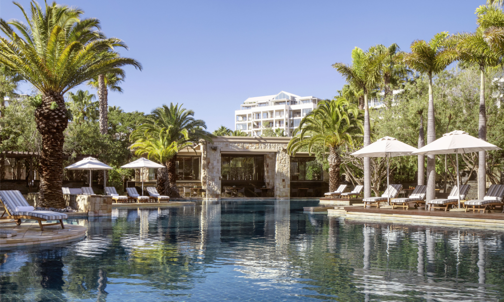 Unwind in style at One&Only Cape Town's expansive infinity pool. Your spot in paradise awaits.