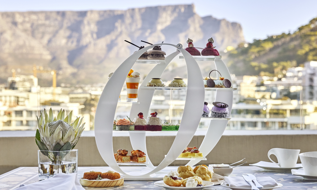 Enjoy an iconic Afternoon Tea experience, served on picturesque O&O tea stands, with uninterrupted views of Table Mountain as your backdrop.