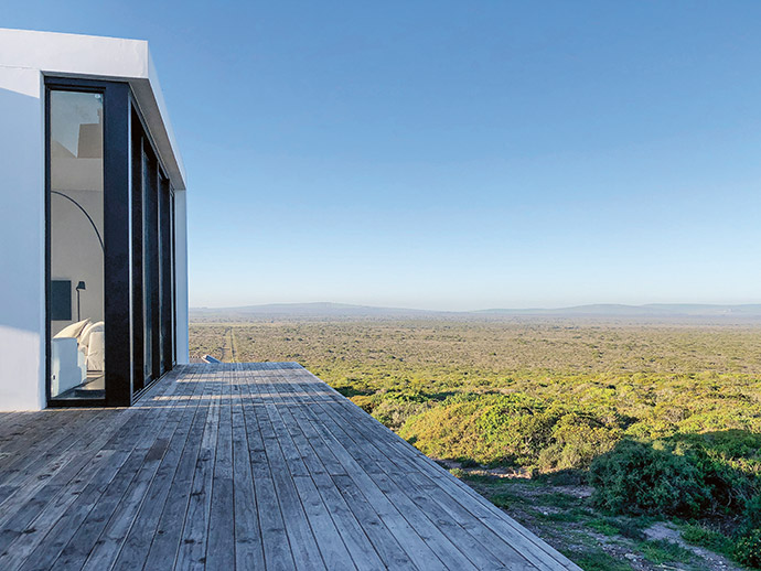 In-depth knowledge of the location allowed Evi to plan for the best possible sun, wind and view orientation.