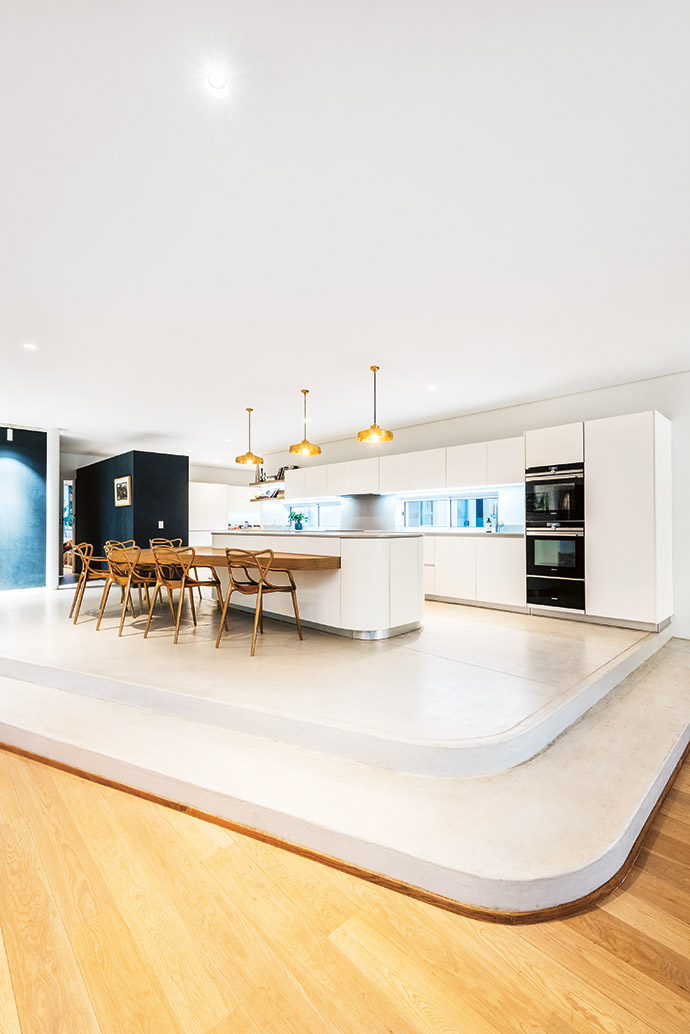 """The central kitchen was designed as the """"command centre"""" of the home."""