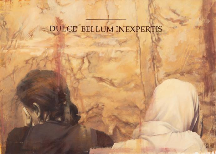 FAITH XLVII DULCE BELLUM INEXPERTIS OIL ON CANVAS
