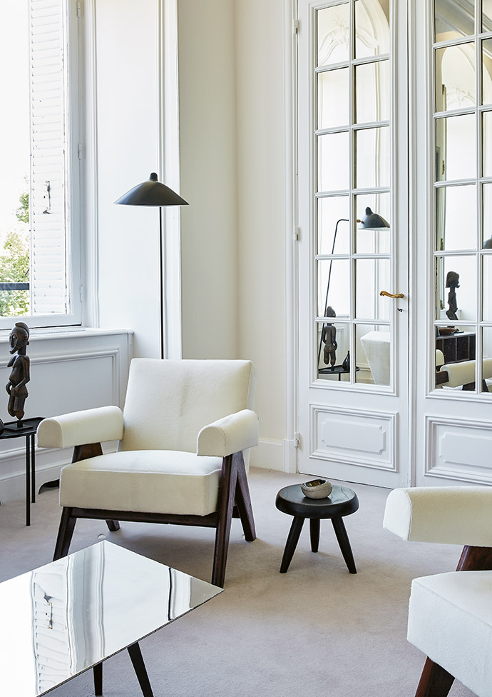 Reflective surfaces throughout the apartment maximise the natural light.