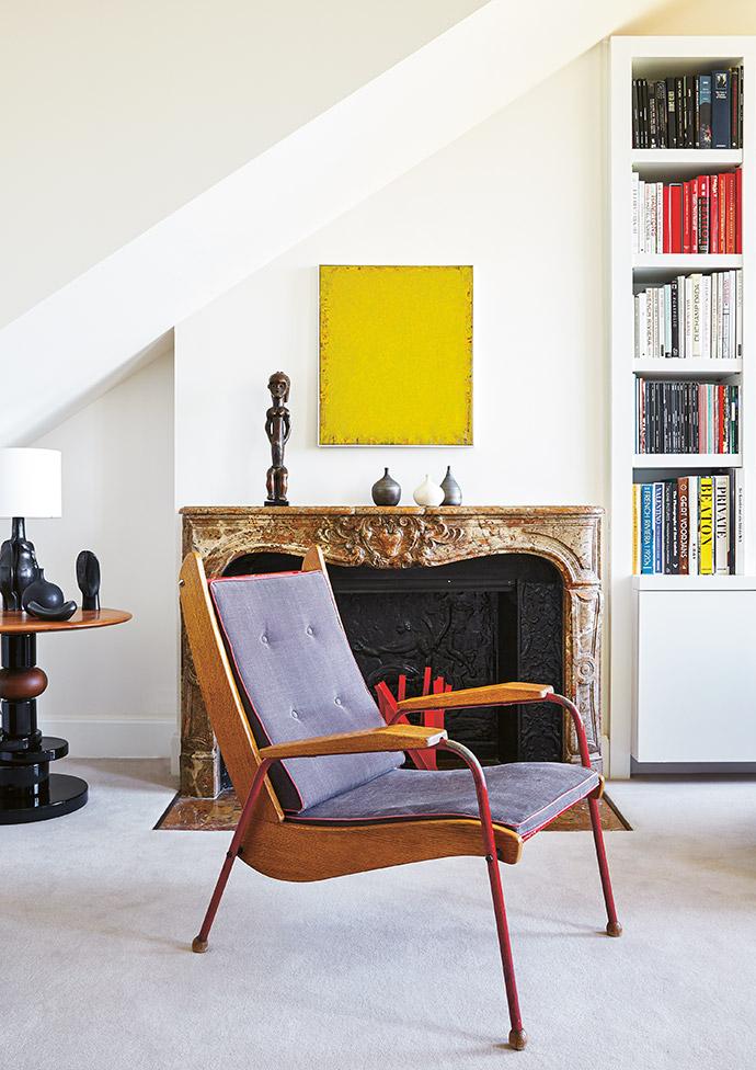 A rare vintage Visiteur chair by Jean Prouvé.