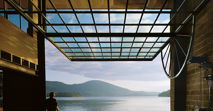 The Chicken Point Cabin in northern Idaho in the US, designed by Olson Kundig.