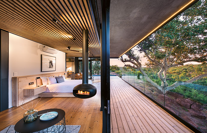 The luxury suites at Fifty Seven Waterberg.