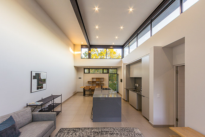 """The densification of Johannesburg's old suburbs has allowed W Design to develop design solutions where large freehold properties with single residential homes are converted into """"condensed suburbs"""" – like Parks on Third in Parktown North."""