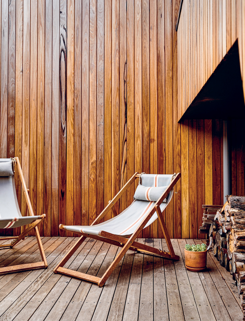 The courtyard offers a shared outdoor area protected from the coastal winds.