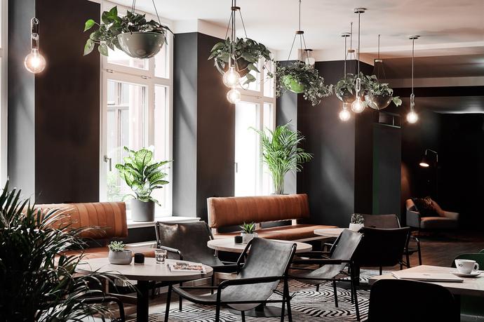 Groners Leipzig Hostel Dining Lounge Fenster mit Licht