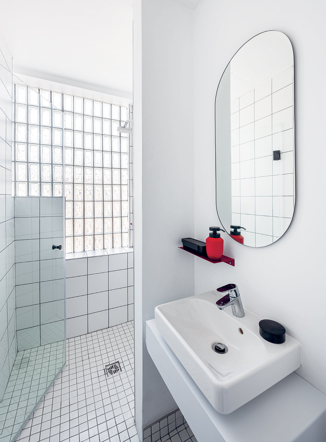 All bathroom fixtures are by Kink, another one of Theo's projects with TwoFiveFive partner André Krige.
