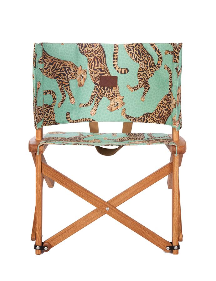 Field Chair Oak Wood CHEETAH KINGS JADE 1