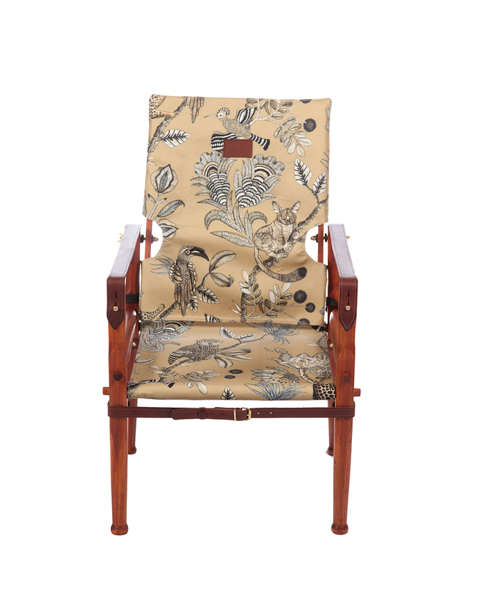 Roorkhee Chair Standard Height - African Mahogany Wood CAMP CRITTER S GOLD 1