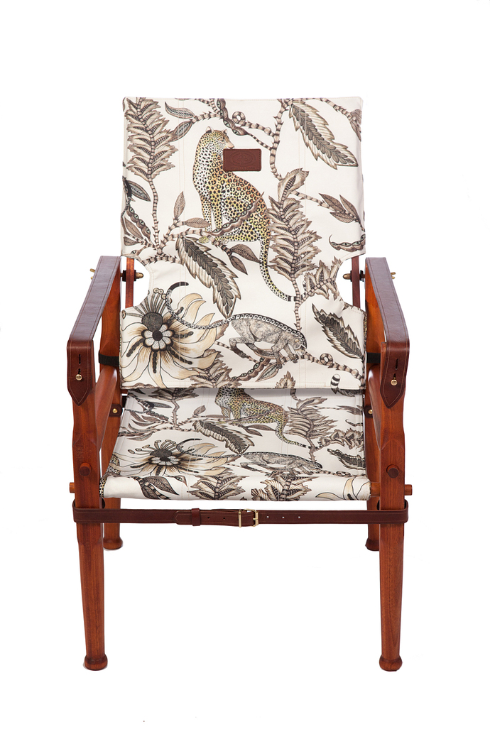 Roorkhee Chair Standard Height - African Mahogany Wood MONKEY BEAN STONE 1