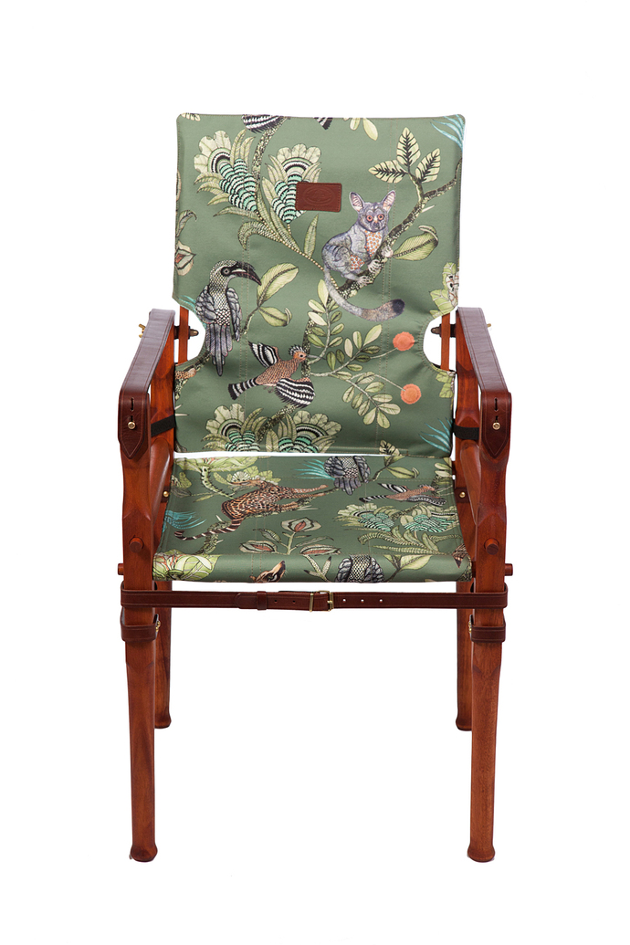 Roorkhee Chair Taller Height- African Mahogany Wood CAMP CRITTERS DELTA 1