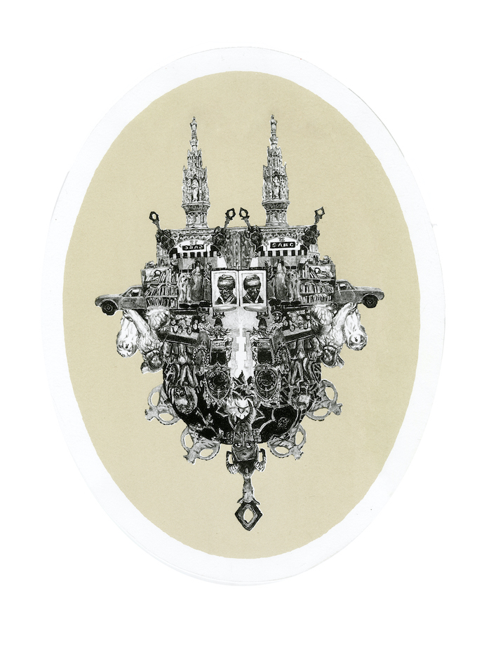 An elaborate story, 2012 Lithograph and screenprint on fabriano
