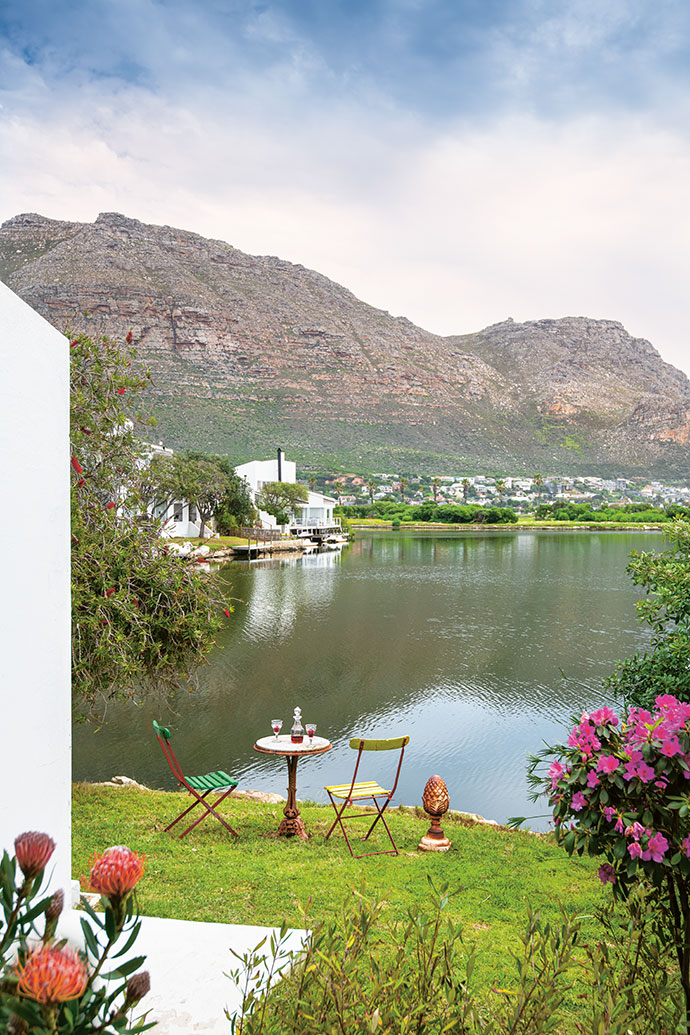 """""""At night, this feels quite romantic, like the Greek islands,"""" says David of his view over Marina Da Gama towards the mountain."""