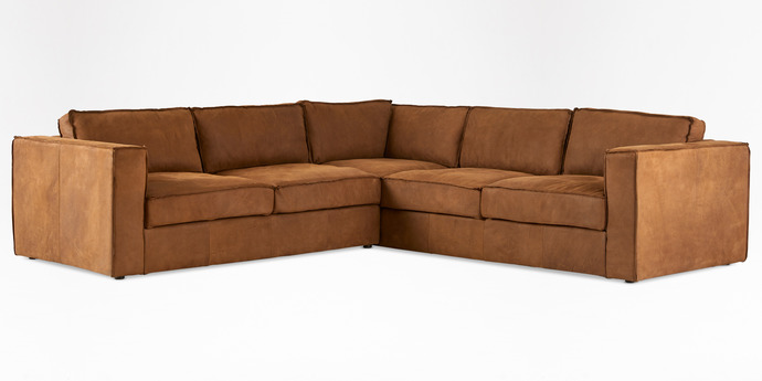 Rosco corner couch in Columbian Brown 2