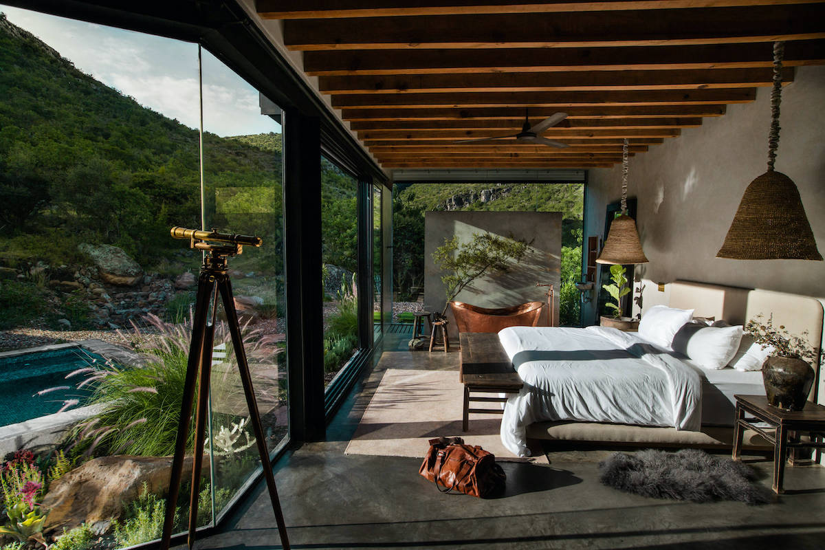 The stunning view from the retreat's bed.