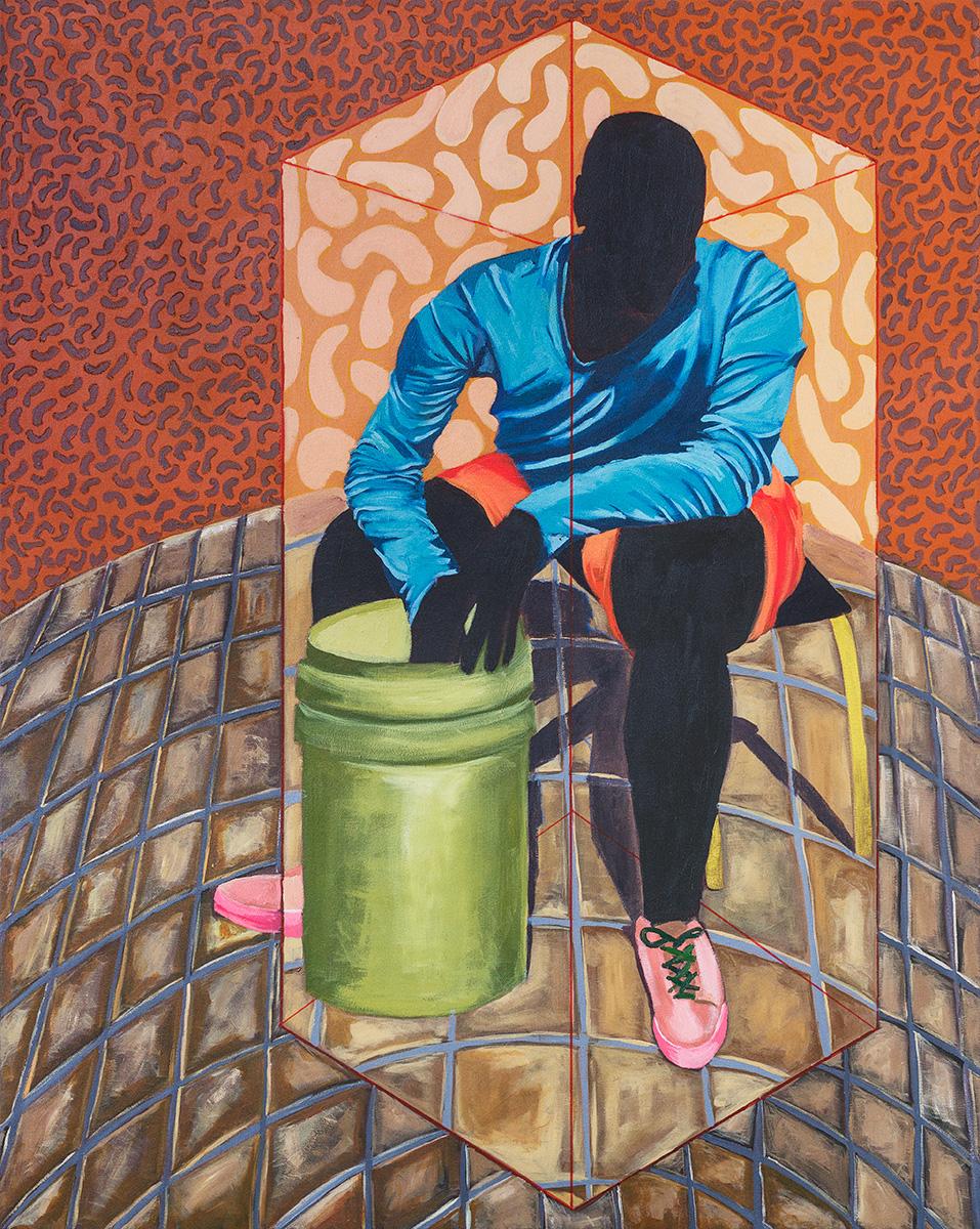 EBONY CURATED  Feni Chulumanco, Imbeko (Respect) Acrylic on Canvas, 120cm x 150cm