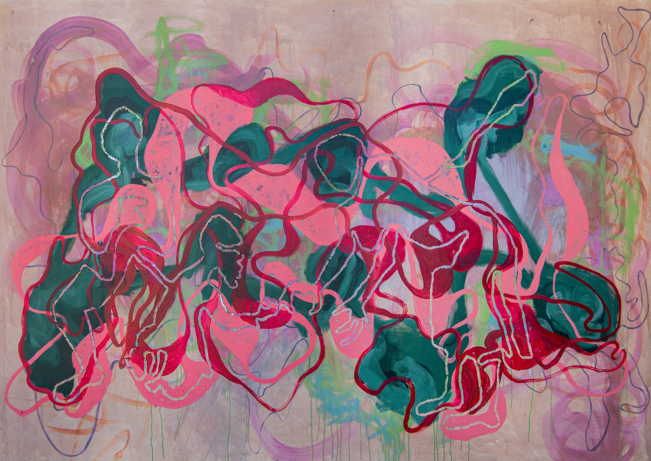 First Floor Gallery  Amanda Mushate Kushava nepanguva yekuva nemchehcewako, 2021, oil on canvas 175 x 250cm
